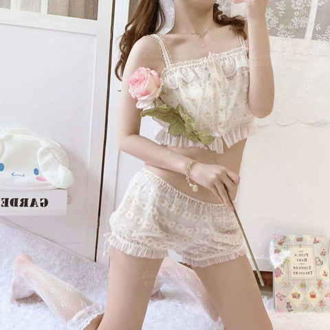 Daisy Goldlace Kawaii Princess Lolita Nymphet Lingerie Set