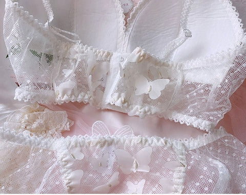 Delicate Butterfly Fairy Princess Lolita Nymphet Lingerie Set