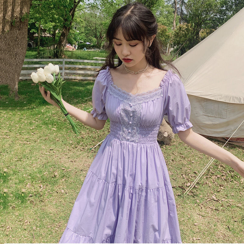 Violette Lace Romantic Vintage-Style Spring Dress