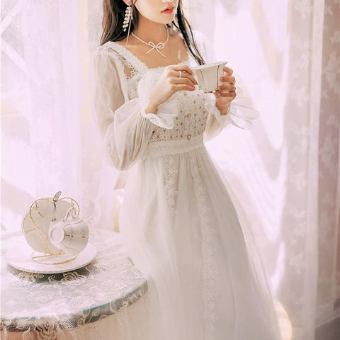 Snow Dust Lace Vintage-style Princess Fairy Dress