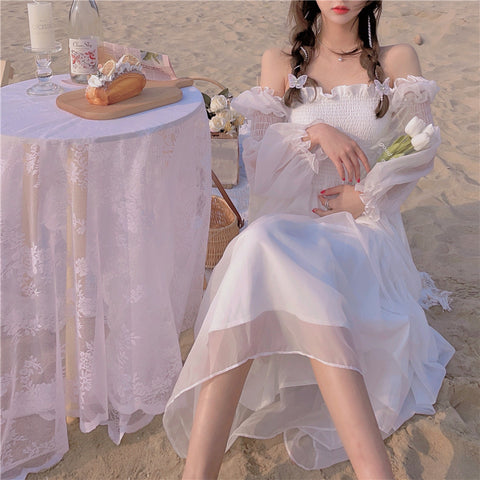 Cloudy Island Chiffon Summer Fairy Dress