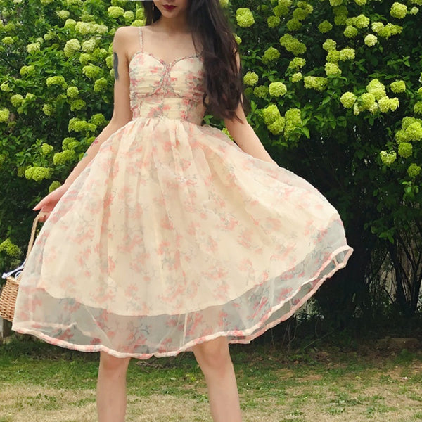 PrettyGarden Soft Girly & Romantic Floral Princess Fairy Dress