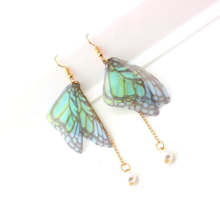 {FREE with Purchase of $25+} Butterfly Fairy Wing Drop Earrings