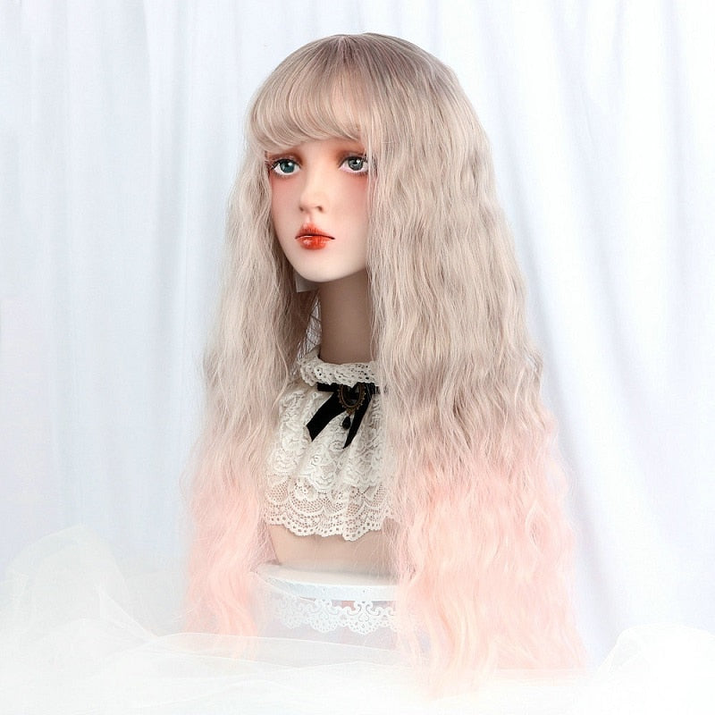 Rose Latte Long Ombre Lolita Wig