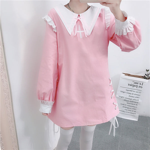 Kawaii Witch Creepycute Cotton Tunic Mini Dress
