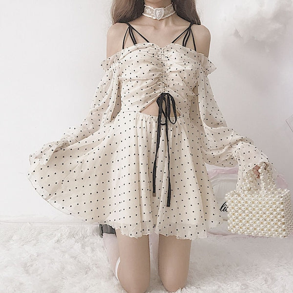 Poppy Heart Chiffon Mini Dress
