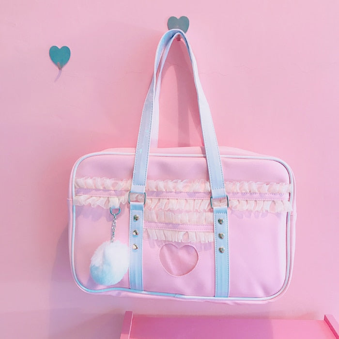 Kawaii Heart Ruffle Bag