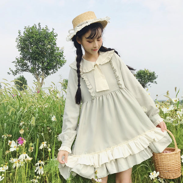 Lucy Daisysky Ruffle Mori Girl Lolita Dress