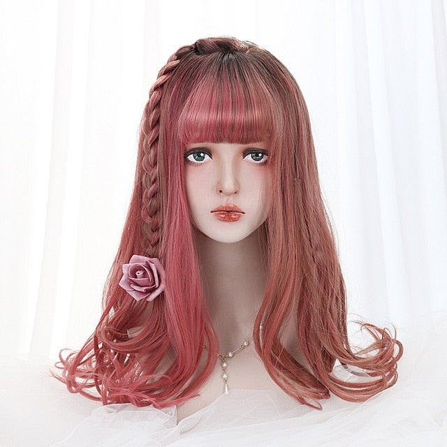Strawberry Cake Lolita Wig With Bangs