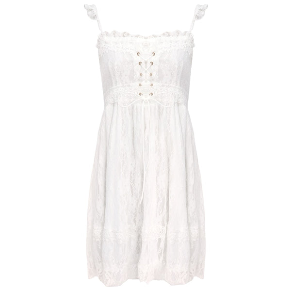 Mistybelle White Lace Nymphet Dress