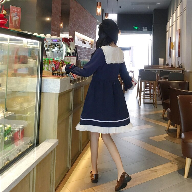 Melody Sailor Long Sleeve Kawaii Dolly Dress