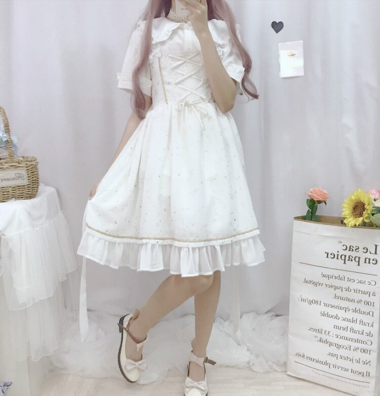 Nora Silkspark Sparkle Sleeveless JSK Lolita Dress