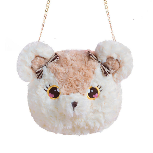 Kawaii Bear Fuzzy Plush Shoulder Lolita Bag