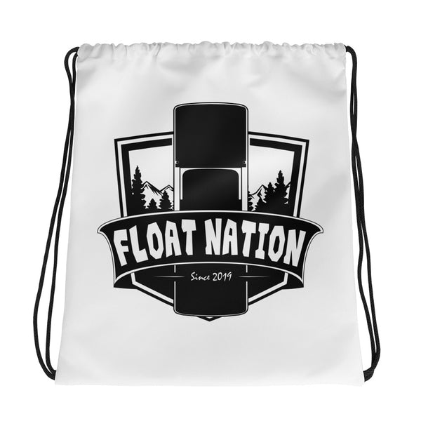 Float Nation Shield Drawstring Bag