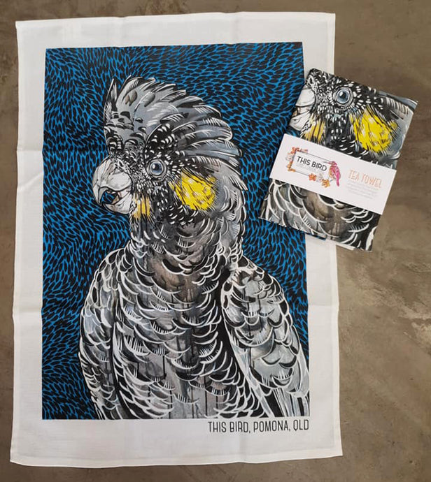 Tea Towel - Black Cockatoo