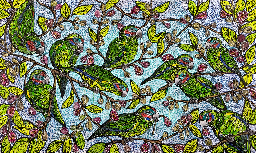 Print - 'Critical Gathering' (Fig Parrots)