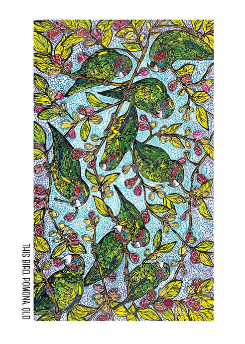 Tea Towel - Fig Parrots