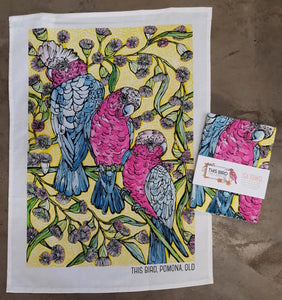 Tea Towel - Galahs & Flowering Gum
