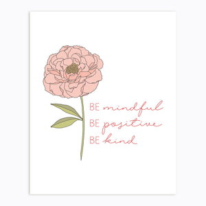 The Rosy Redhead-Mindful Positive Kind Print