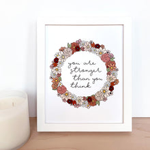 Load image into Gallery viewer, The-Rosy-Redhead-Art-Print-Floral Wreath-Custom-Fall
