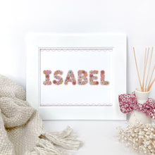 Load image into Gallery viewer, The Rosy Redhead-Art-Floral Alphabet-Custom Print-Bedroom-Pink