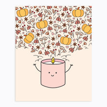 Load image into Gallery viewer, The-Rosy-Redhead-Art-Print-Fall-Candle-Cute-Printable