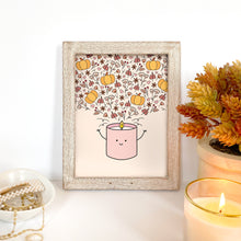 Load image into Gallery viewer, The-Rosy-Redhead-Art-Print-Fall-Candle-Cute