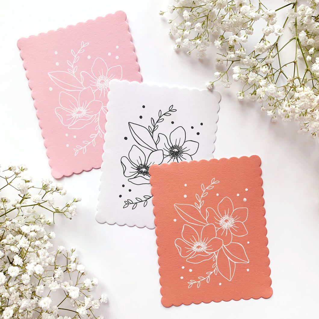 HAND DRAWN NOTE CARDS - Fun Florals