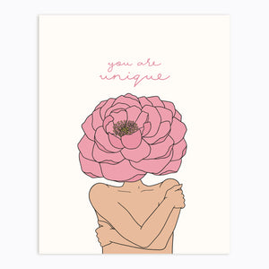 The Rosy Redhead-Self Love-Floral art-Gallery Wall Print