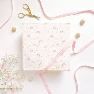The Rosy Redhead wrapping paper fun rainbow happy gift wrap