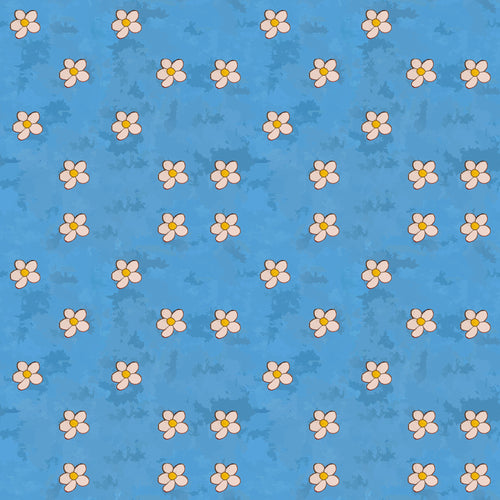 FSB805 - Sabrina's Fancy Lady Collection -  blue flowers