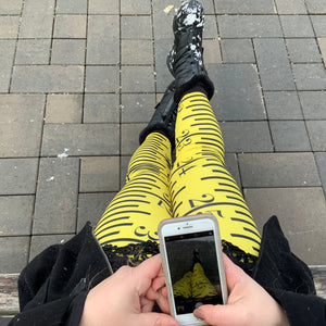 Legging - Print Yellow Ruler