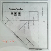 Load image into Gallery viewer, Ruler - Quilt Trim Ruler - The Pineapple Ruler