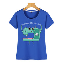 Load image into Gallery viewer, Tops T-Shirt  - Sewing Machine