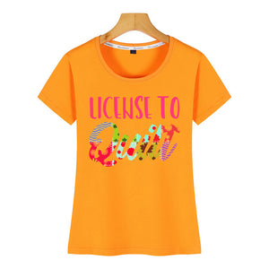 Tops T-Shirt - License To Quilt
