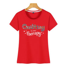Load image into Gallery viewer, Tops T-Shirt - Quilting Is My Therapy