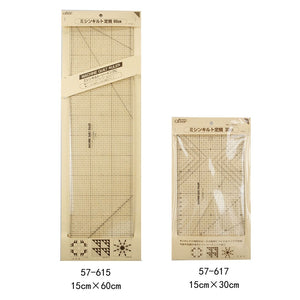 Ruler - Quilt Trim Ruler - Straight Cut 60cm30cm 57-615/617 black ruler imported Japanese