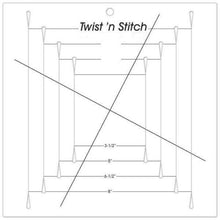 Load image into Gallery viewer, Ruler - Quilt Trim Ruler - Twist 'n Stitch Pinwheel Block Ruler