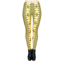 Load image into Gallery viewer, Legging - Print Yellow Ruler