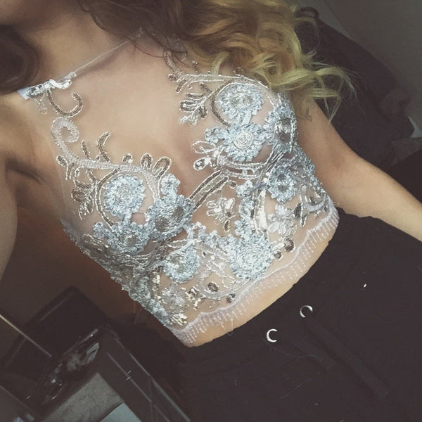 New embroidered lace top