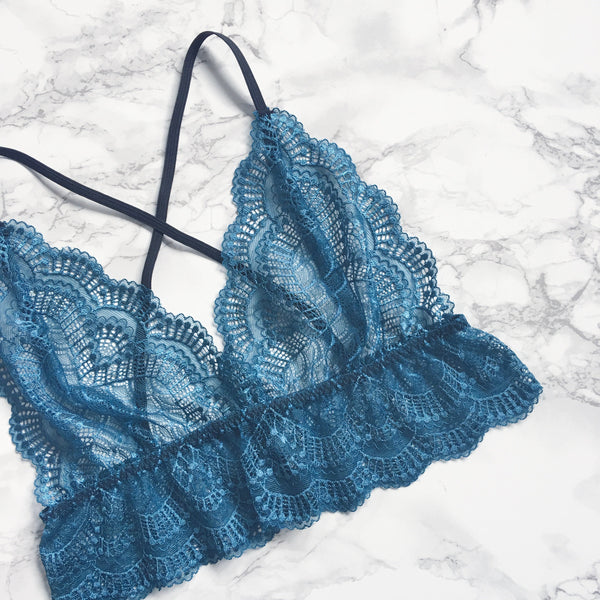 Sheer lace bralet (multiple colours)