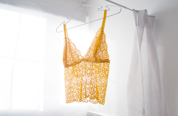 'Pineapple' Long Lace Bralet