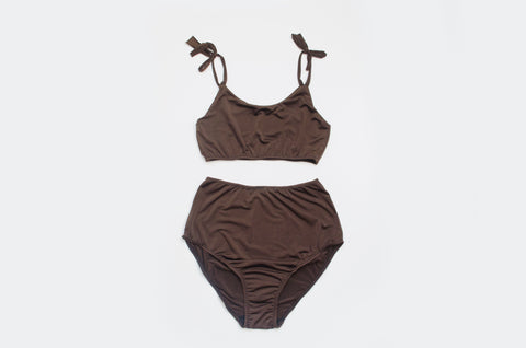 'Chocolate' Crop Lounge Set