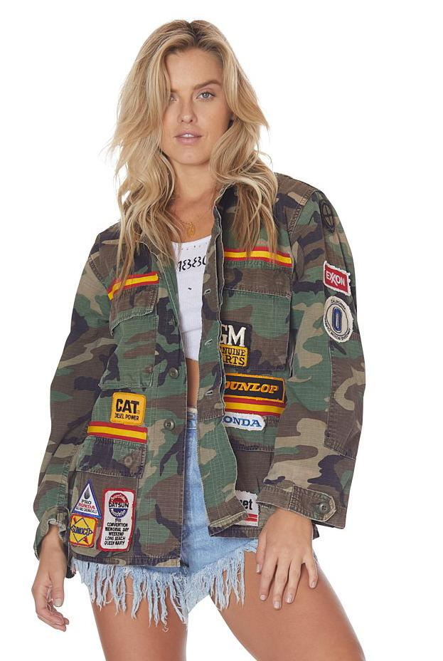 Patched Up Vintage Camo Jacket