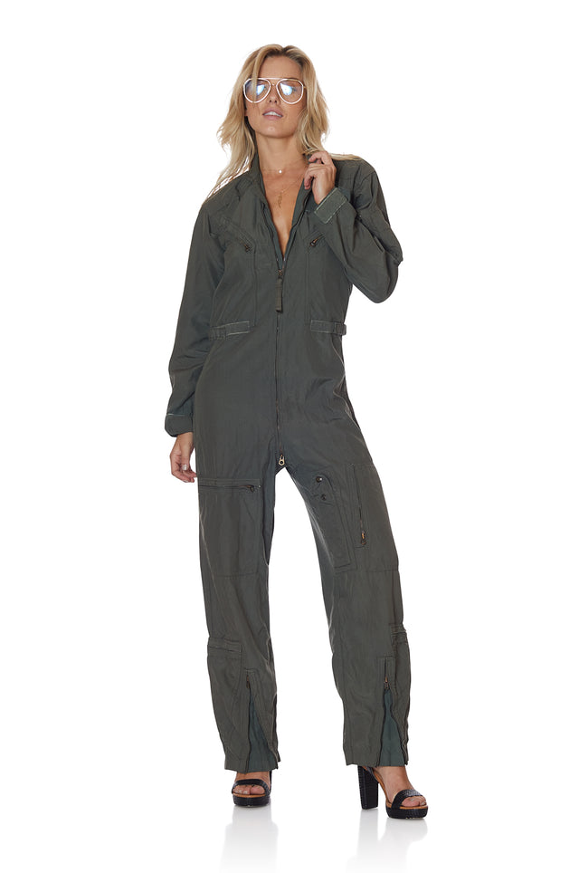 Flight School Vintage Military Jumpsuit