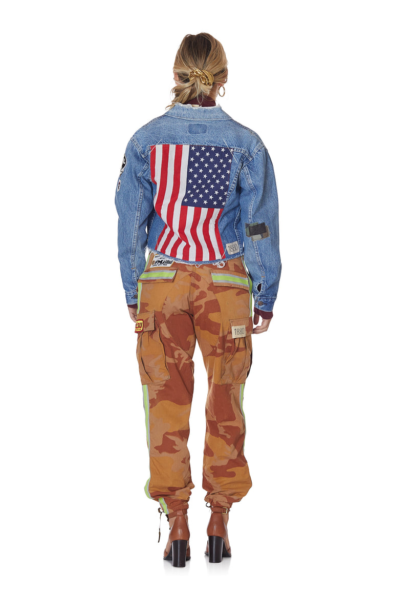 Give Peace a Chance Vintage Levis Trucker Denim Jacket with Custom Patches