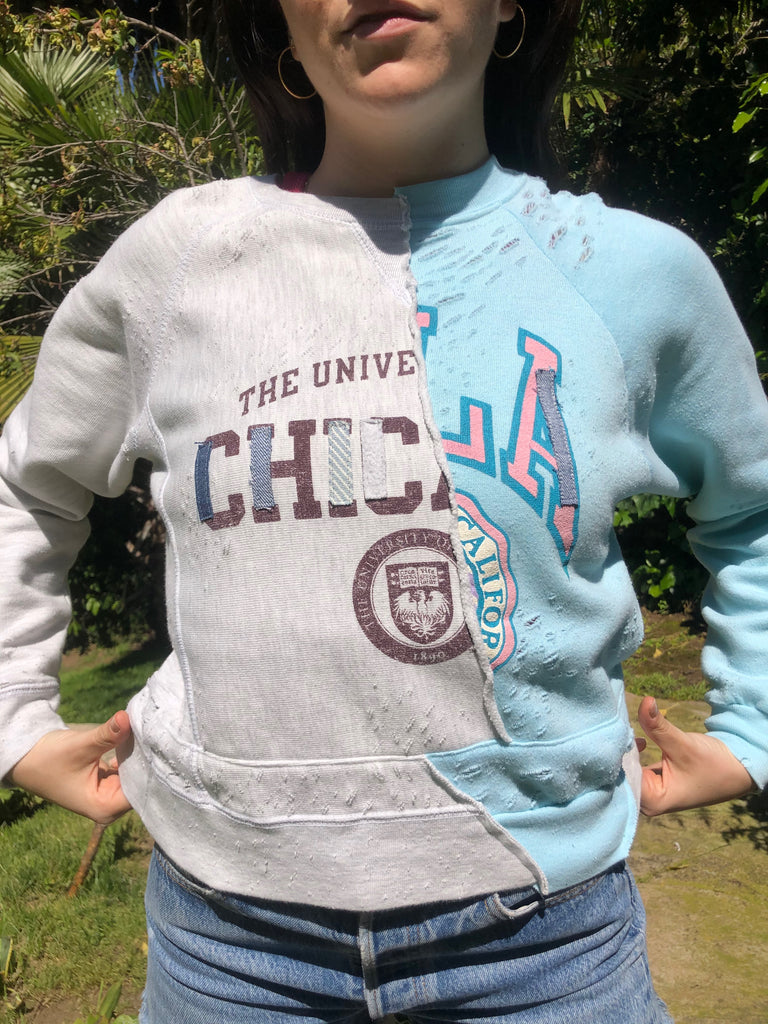 Chicago/UCLA Transfer Student Split Crewneck