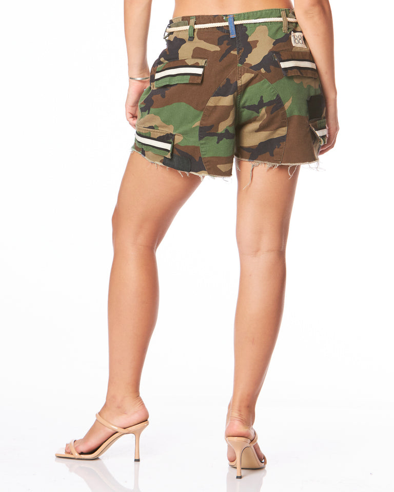 High Low Vintage Camo Short