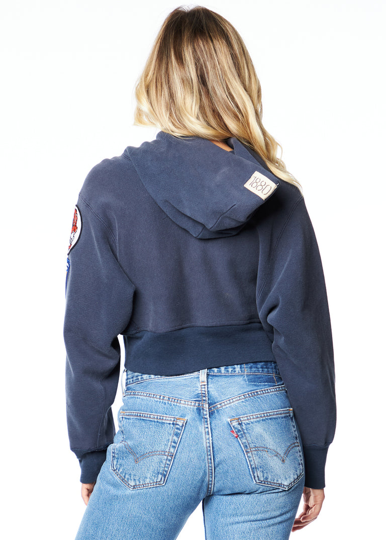 "Sportsman ""Virginia"" Cropped Hoodie w/ Patches"