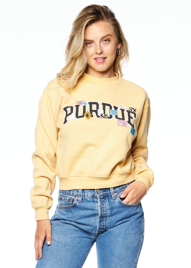 "Saturday Night Collegiate Crewneck ""Purdue"""